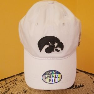 Iowa Hawkeyes white mascot cap hat Rk:4:619